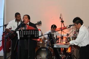 La recién conformada Orquesta Municipal, puso el toque de alegría en la velada. Foto: Alex Godoy / ImbaburaHoy