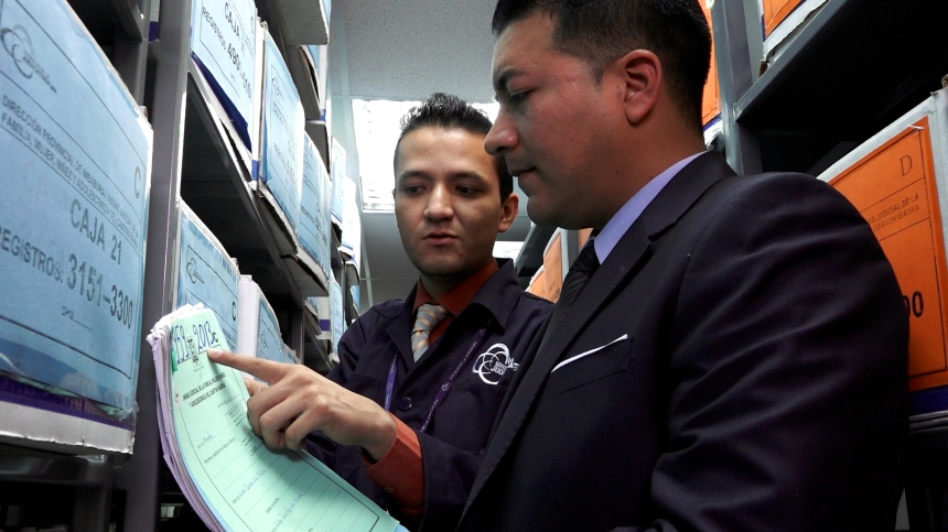 Ibarra.- Mediante la depuración se actualiza el Sistema Automático de Trámite Judicial del Ecuador (SATJE) para optimizar el plan de cobertura judicial. |Foto: Cortesía