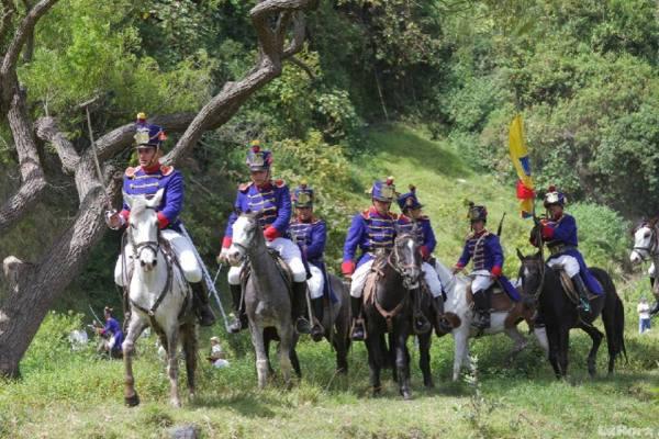 Ibarra.- La Batalla de Ibarra, es la única que combatió personalmente el Libertador Simón Bolívar    Foto: Archivo