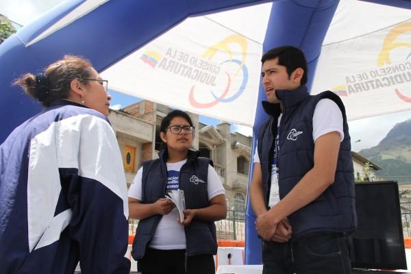 Ibarra.- Diferentes promotores socializaron en esta semana sobre la mediación en los cantones de la provincia.| Foto: Cortesía