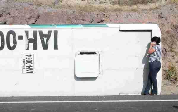 Ibarra.- Se desconocen las causas del accidente, la Policía Nacional se encuentra investigando. |Foto: Alex Godoy/ImbaburaHoy