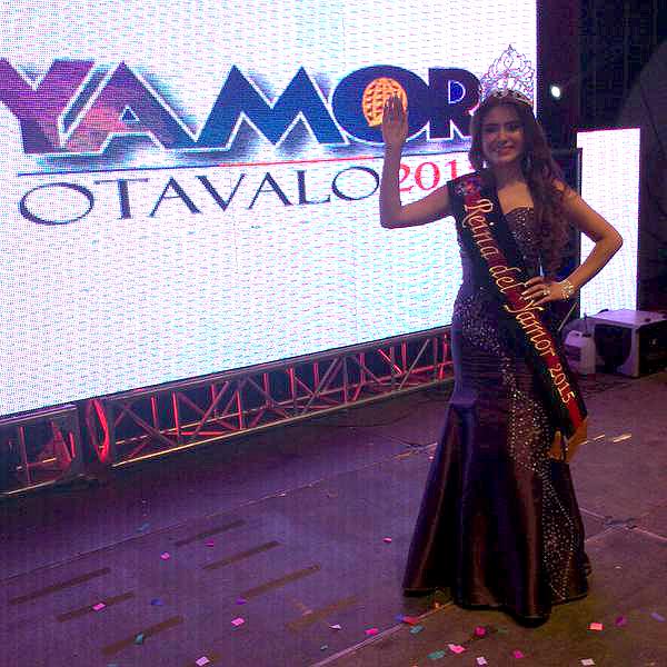 Otavalo.- Laura Mishell Alvarado Esparza es la nueva Reina del Yamor 2015. |Foto: Cortesía