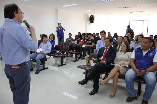 Ibarra.- Autoridades conocieron sobre la implementación del Geo Parque. |Foto: Cortesía.