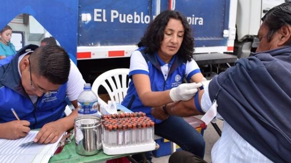 Otavalo.- Más de 300 personas se han atendido en esta campaña. |Foto: Cortesía