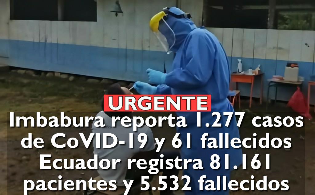 Ecuador registra 82.279 positivos y 5.584 personas fallecidas por COVID-19